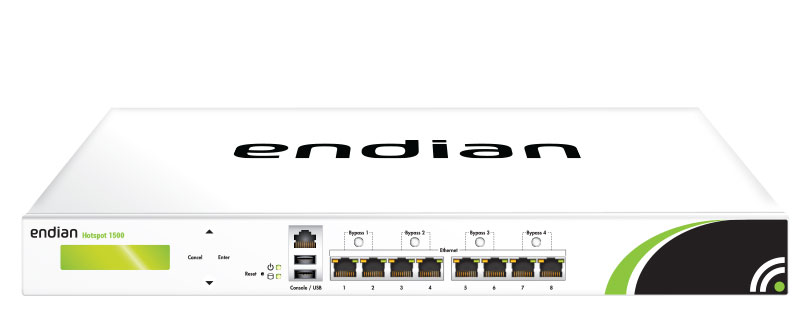 Endian Hotspot 1500 � Hardware - 750 Concurrent Users