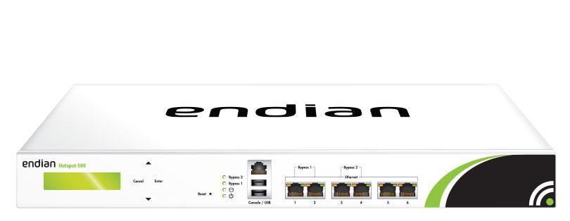 Endian Hotspot 200 Concurrent Users per Endian Hotspot 500  HW