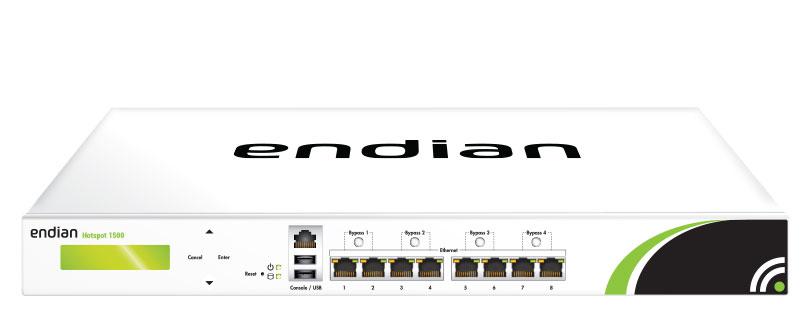 Endian Hotspot 1500 Concurrent Users per Endian Hotspot 1500 HW