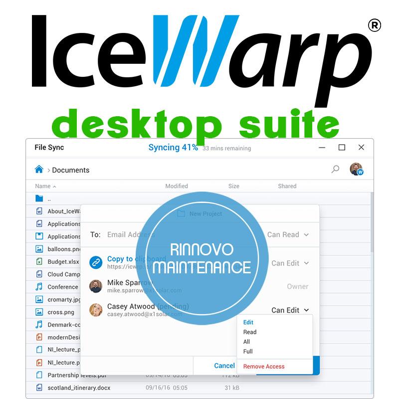 Rinnovo maintenance IceWarp Desktop Suite