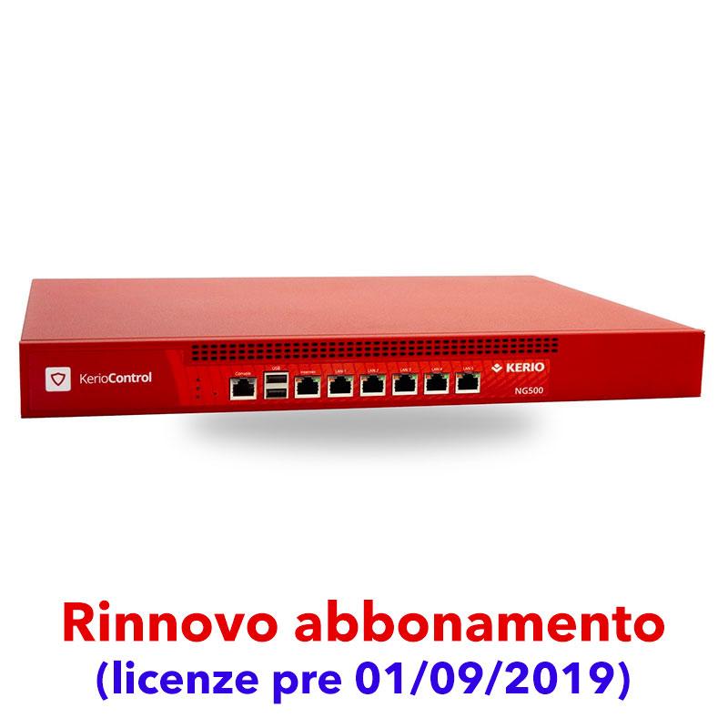 Abbonamento Kerio Control per Box NG500 (licenze pre 01/09/2019)